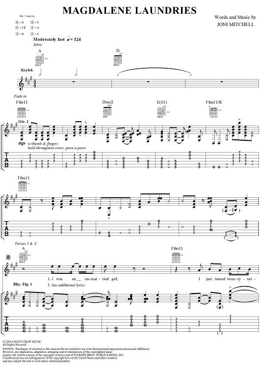 muziek Magdalene Laundries Joni Mitchell
