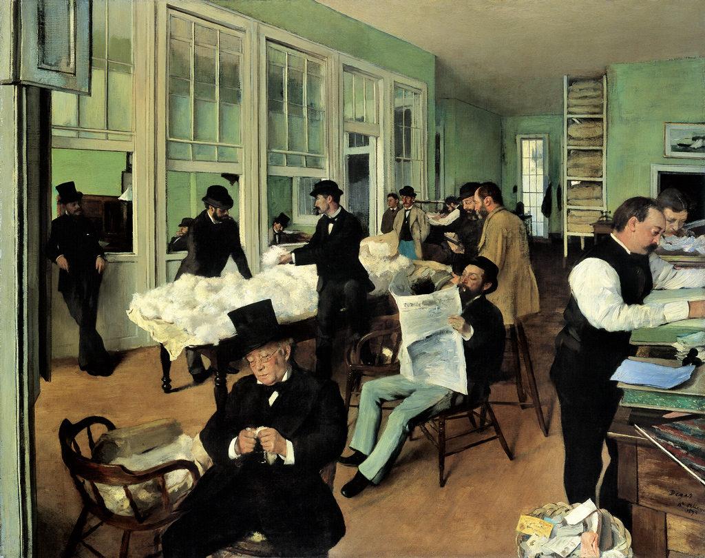 Edgar Degas, un bureau de coton